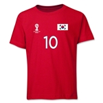 South Korea 2014 FIFA World Cup Brazil(TM) Youth Number 10 T-Shirt (Red)