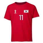 South Korea 2014 FIFA World Cup Brazil(TM) Youth Number 11 T-Shirt (Red)