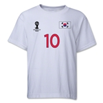 South Korea 2014 FIFA World Cup Brazil(TM) Youth Number 10 T-Shirt (White)