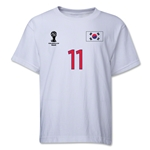 South Korea 2014 FIFA World Cup Brazil(TM) Youth Number 11 T-Shirt (White)