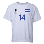 Honduras 2014 FIFA World Cup Brazil(TM) Youth Number 14 T-Shirt (White)