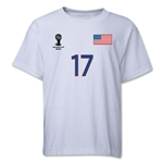 USA 2014 FIFA World Cup Brazil(TM) Youth Number 17 T-Shirt (White)