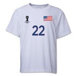 USA 2014 FIFA World Cup Brazil(TM) Youth Number 22 T-Shirt (White)