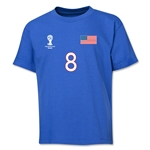 USA 2014 FIFA World Cup Brazil(TM) Youth Number 8 T-Shirt (Royal)