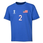 USA 2014 FIFA World Cup Brazil(TM) Youth Number 2 T-Shirt (Royal)