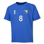 Bosnia-Herzegovina 2014 FIFA World Cup Brazil(TM) Youth Number 8 T-Shirt (Royal)