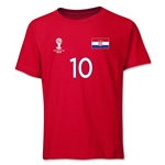 Croatia 2014 FIFA World Cup Brazil(TM) Youth Number 10 T-Shirt (Red)