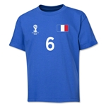 France 2014 FIFA World Cup Brazil(TM) Youth Number 6 T-Shirt (Royal)