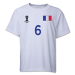 France 2014 FIFA World Cup Brazil(TM) Youth Number 6 T-Shirt (White)