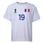 France 2014 FIFA World Cup Brazil(TM) Youth Number 19 T-Shirt (White)