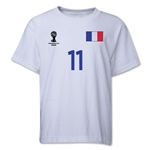 France 2014 FIFA World Cup Brazil(TM) Youth Number 11 T-Shirt (White)