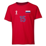 Russia 2014 FIFA World Cup Brazil(TM) Youth Number 15 T-Shirt (Red)