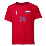 Russia 2014 FIFA World Cup Brazil(TM) Youth Number 14 T-Shirt (Red)