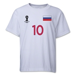 Russia 2014 FIFA World Cup Brazil(TM) Youth Number 10 T-Shirt (White)
