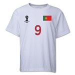 Portugal 2014 FIFA World Cup Brazil(TM) Youth Number 9 T-Shirt (White)