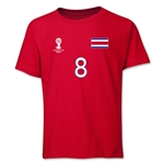 Costa Rica 2014 FIFA World Cup Brazil(TM) Youth Number 8 T-Shirt (Red)