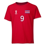 Costa Rica 2014 FIFA World Cup Brazil(TM) Youth Number 9 T-Shirt (Red)