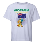 Australia 2014 FIFA World Cup Brazil(TM) Youth Mascot Flag T-Shirt (White)