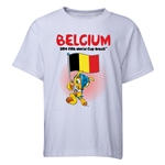 Belgium 2014 FIFA World Cup Brazil(TM) Youth Mascot Flag T-Shirt (White)