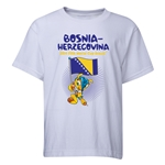 Bosnia-Herzegovina 2014 FIFA World Cup Brazil(TM) Youth Mascot Flag T-Shirt (White)
