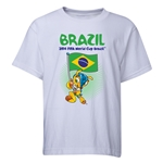 Brazil 2014 FIFA World Cup Brazil(TM) Youth Mascot Flag T-Shirt (White)