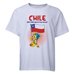 Chile 2014 FIFA World Cup Brazil(TM) Youth Mascot Flag T-Shirt (White)