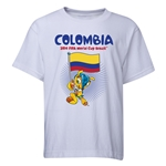 Colombia 2014 FIFA World Cup Brazil(TM) Youth Mascot Flag T-Shirt (White)