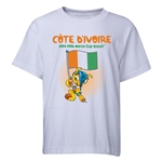 Cote d'Ivoire 2014 FIFA World Cup Brazil(TM) Youth Mascot Flag T-Shirt (White)