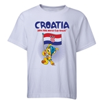 Croatia 2014 FIFA World Cup Brazil(TM) Youth Mascot Flag T-Shirt (White)
