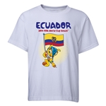Ecuador 2014 FIFA World Cup Brazil(TM) Youth Mascot Flag T-Shirt (White)