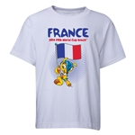 France 2014 FIFA World Cup Brazil(TM) Youth Mascot Flag T-Shirt (White)