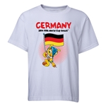 Germany 2014 FIFA World Cup Brazil(TM) Youth Mascot Flag T-Shirt (White)
