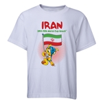 Iran 2014 FIFA World Cup Brazil(TM) Youth Mascot Flag T-Shirt (White)