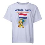 Netherlands 2014 FIFA World Cup Brazil(TM) Youth Mascot Flag T-Shirt (White)