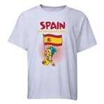 Spain 2014 FIFA World Cup Brazil(TM) Youth Mascot Flag T-Shirt (White)