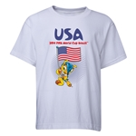 USA 2014 FIFA World Cup Brazil(TM) Youth Mascot Flag T-Shirt (White)