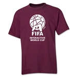 FIFA Interactive World Cup Youth Single Color Emblem T-Shirt (Maroon)