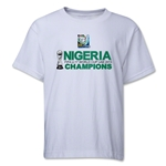 Nigeria FIFA U-17 World Cup UAE 2013 Champions Youth T-Shirt (White)