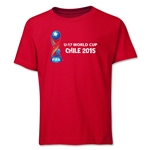 FIFA U-17 World Cup Chile 2015 Youth Landscape T-Shirt (Red)