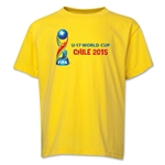 FIFA U-17 World Cup Chile 2015 Youth Landscape T-Shirt (Yellow)