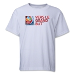 FIFA Women's World Cup Canada 2015(TM).French Slogan Youth T-Shirt (White)