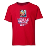 FIFA Women's World Cup Canada 2015(TM).French Slogan Youth T-Shirt (Red)