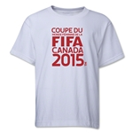 FIFA Women's World Cup Canada 2015(TM).French Logotype Youth T-Shirt (White)
