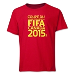 FIFA Women's World Cup Canada 2015(TM).French Logotype Youth T-Shirt (Red)