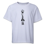 FIFA Women's World Cup Canada 2015(TM).French Trophy 1 Youth T-Shirt (White)