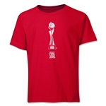 FIFA Women's World Cup Canada 2015(TM).French Trophy 1 Youth T-Shirt (Red)