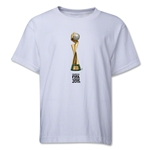 FIFA Women's World Cup Canada 2015(TM).French Trophy 2 Youth T-Shirt (White)