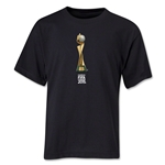 FIFA Women's World Cup Canada 2015(TM).French Trophy 2 Youth T-Shirt (Black)