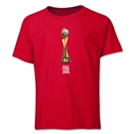FIFA Women's World Cup Canada 2015(TM).French Trophy 2 Youth T-Shirt (Red)