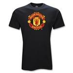 Manchester United Youth Big Crest T-Shirt (Black)